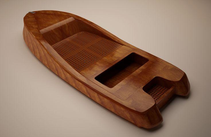 Horus - boat concept and accessorising 3D render