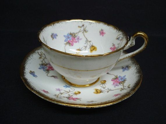 Antique Cup And Saucer By Royal Stafford Bone China