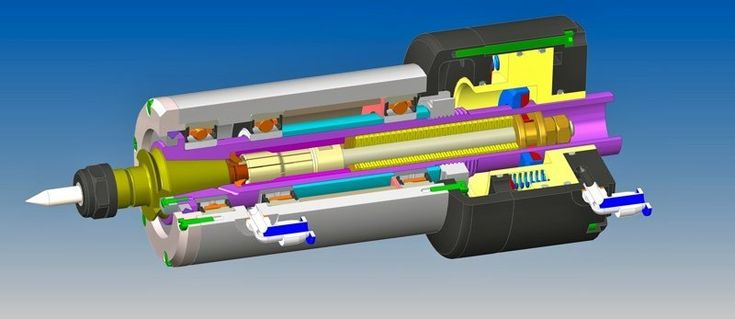 Tool change spindle - STEP / IGES - 3D CAD model - GrabCAD