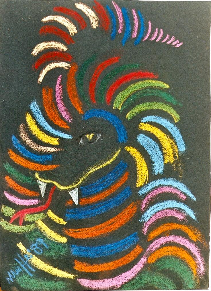 "ArtWorksRoma: ""Dragon"" by Massimo Maffei 1989"