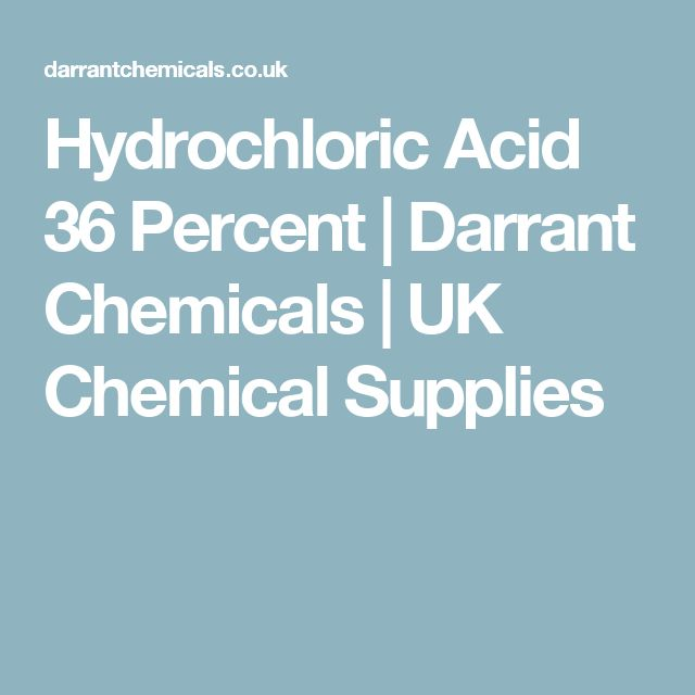 Hydrochloric Acid 36 Percent | Darrant Chemicals | UK Chemical Supplies