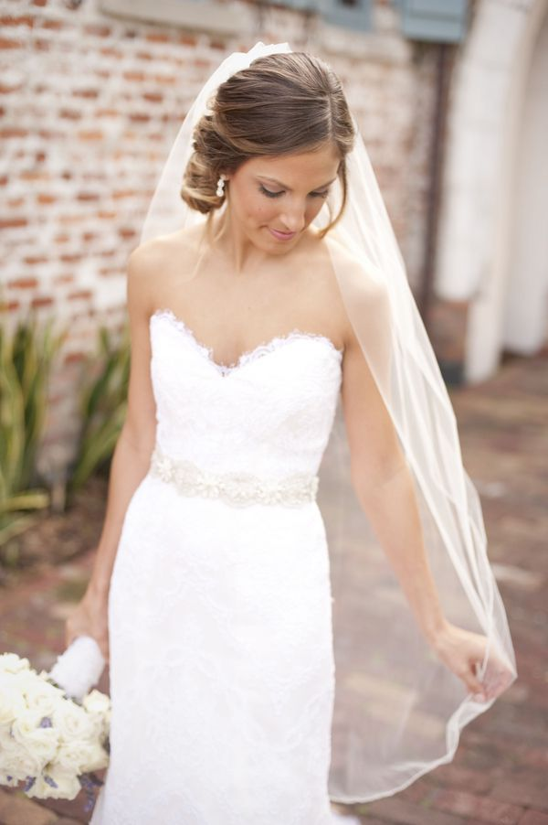 Sweetheart Neckline Lace Wedding Gown