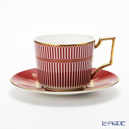 Wedgwood Ann cicada on Ruby tea cup and saucer 200cc