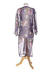 Rose Pomme Peignoirs Femme de couleur violet en soldes pas cher 690065-violet - Modz