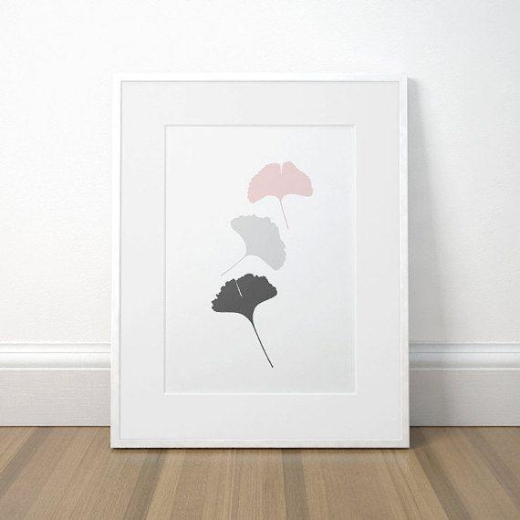 Modern Printable Decor Ginko Leaf Print Ginko by CaroCaroPrints
