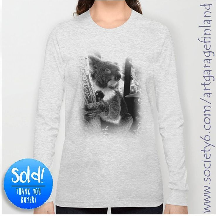 """10 Likes, 1 Comments - Alan Hogan (@alanhogano) on Instagram: """"Sold!!! 😀 .. thanks to the person who bought this 'Koala' long sleeve t-shirt design in heather…"""""""