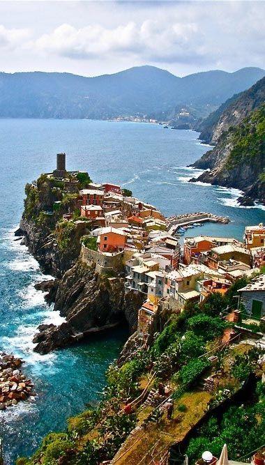 Rocky village in Vernazza, Liguria, Italy
