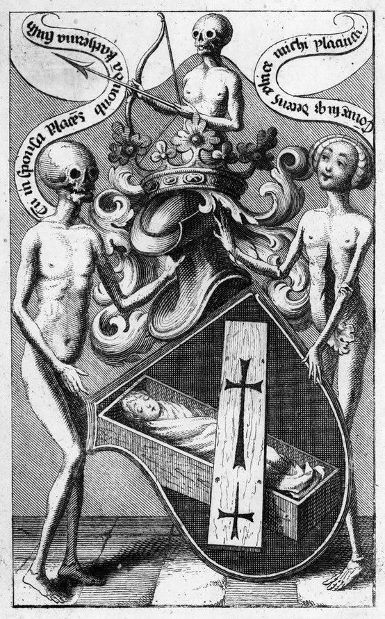 Dance Macabre bookplate, Antonio Steinhaur {c.1744}