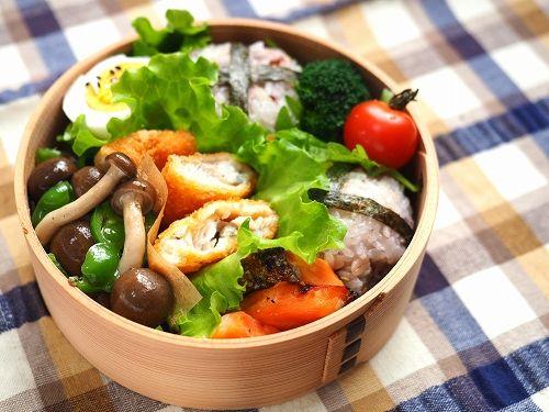 鮭弁当 - おっさん弁当と簡単レシピ