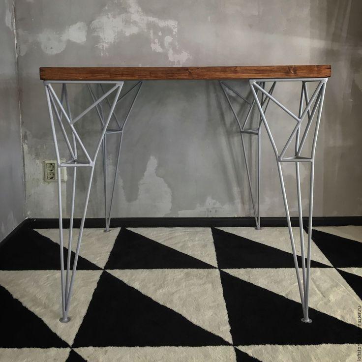 Купить Стол Apollo и табурет Spike. - серый, стол, обеденный стол, стол на металлокаркасе, металл