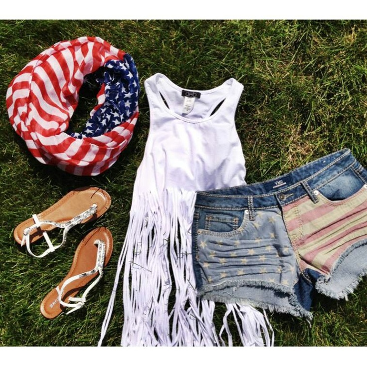 Fun cookout outfit! Similar top can be found at Pacsun or express!