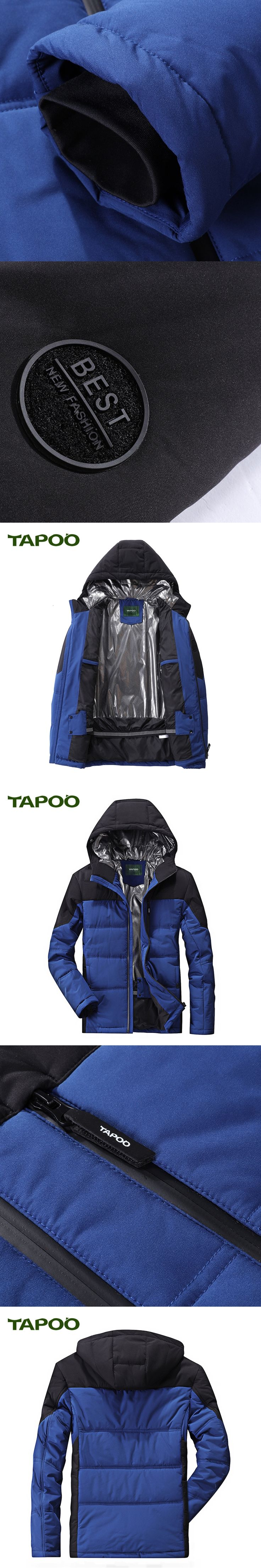 TAPOO 2017 Men's Coats Casual Hooded Men's Windbreaker Windproof Waterproof Brand Male Jackets