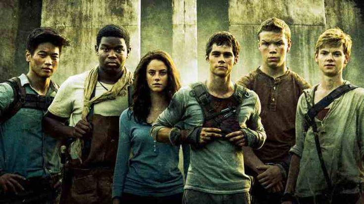 Le labyrinthe, tome 1 Les personnages (en partant de la gauche) : Minho, Poêle à frire, Teresa, Thomas, Gally, Newt