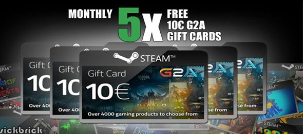 Free Steam Wallet 2015 5x 10 Euro G2A Gift Cards http://www.free-steam-giveaways.com/free-steam-wallet-2015-5x-10-euro-g2a-gift-cards/