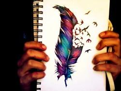 Tattoo Ideas, Birds Tattoo, Feathers Drawing, Colors, Art, A Tattoo, Cool Tattoos, Feather Tattoos, Feathers Tattoo