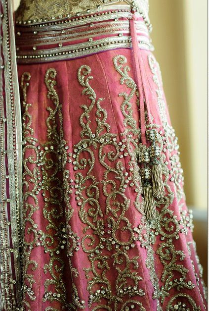 Rich embroidery on a skirt - yes, I'd wear this!! Wouldn't you?!?!