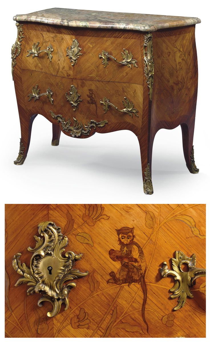 date unspecified A FRENCH ORMOLU-MOUNTED TULIPWOOD, SATINE AND MARQUETRY  COMMODE BY FRANCOIS LINKE - 8314 Best Art & Antiques Images On Pinterest Antique Furniture