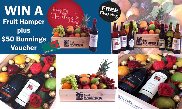 ***WIN*** A Fruit Hamper + $50 Bunnings Gift Card  To Enter:  Just like our page, and share this post!  Don't forget to let us know why you think your Dad is special... Join the Father's Day event so we can let you know if you are the winner smile emoticon  https://www.facebook.com/events/1597876767132230  #competition #entertowin #win #prize #congratulations #fruitbaskets #fruithampers  Free Delivery order online: http://www.iGiftFruitHAMPERS.com.au/