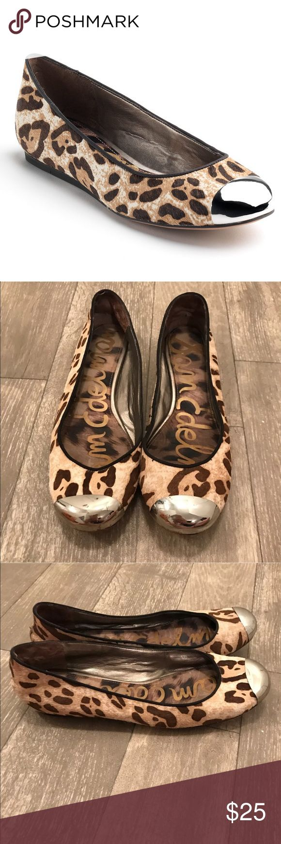 Sam Edelman Jordie Calf Hair Leopard Ballet Flat Excellent condition with slight scratching on toe. Barely noticeable! Sam Edelman Shoes Flats & Loafers