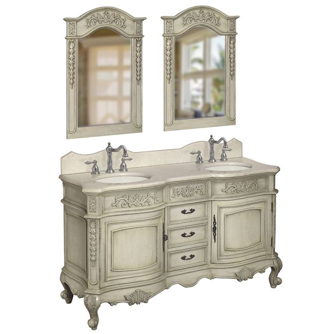 This double basin vanity will look stunning in your Victorian bathroom. - 137 Best Upstairs Bathroom Images On Pinterest Bathroom, Home
