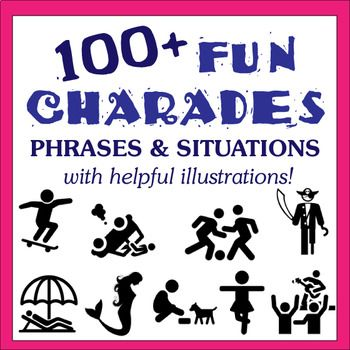 Some students with lower (English) proficiency may benefit from this adaptation to the game so that they can join their classmates in the fun! #Charades #CharadeWords #ESLGames #VocabularyGames #TEFL #ESL