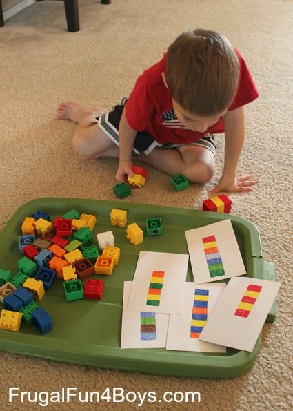 Two Preschool Math Activities with Duplo Legos: great time filler if the room is cleaned and we are waiting for parents if the service has gone longer than expected
