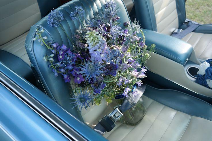 Blue British Flowers- July.