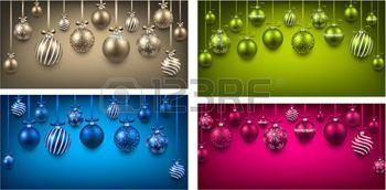 illustration boule de noel brillante: Résumé arc arrière-plans colorés avec des boules de Noël.
