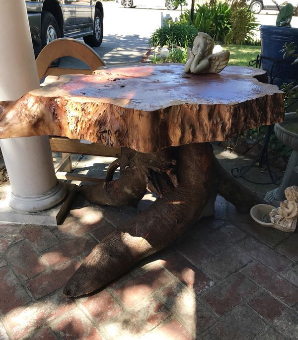 Custom Built Burl Wood Table For Sale In San Jose Ca Burled
