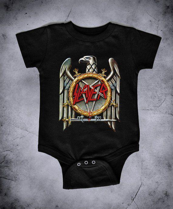 a19b954c Slayer - baby one piece bodysuit, metal baby, metal one piece ...