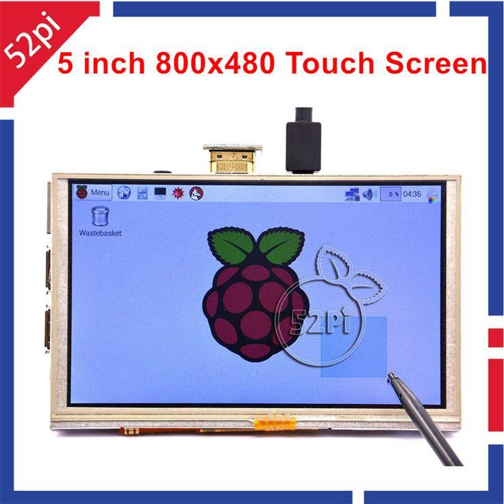 5 بوصة 800x480 hdmi tft lcd شاشة اللمس ل التوت pi 3/2 نموذج b/b + a + b