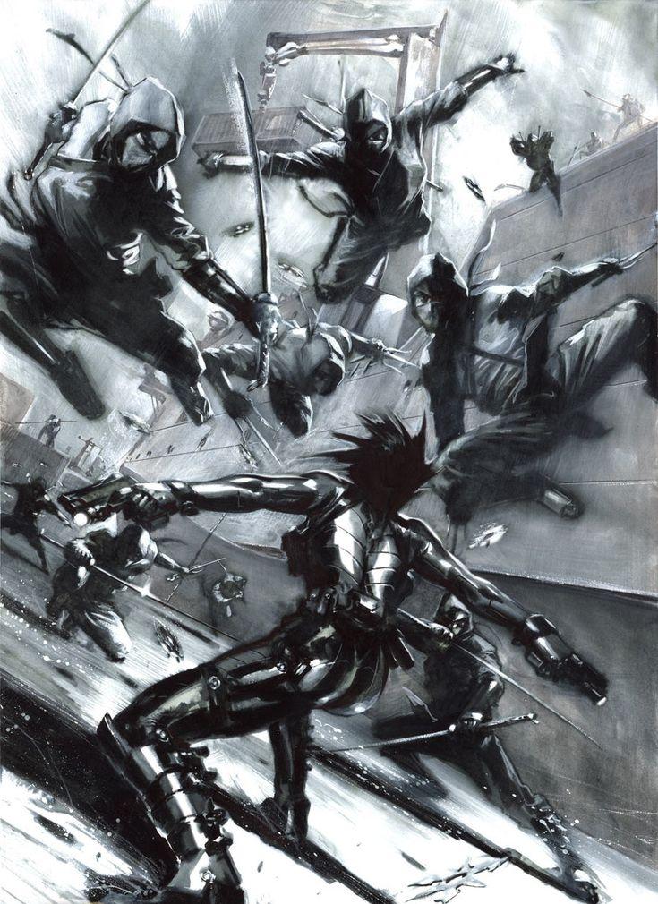 Domino vs. Ninjas by Gabriele Dell'Otto