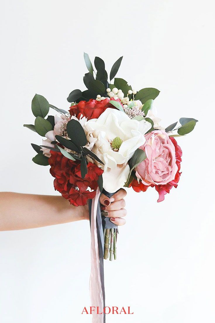 Find Stunning Winter Silk Flowers At Afloral Com To Diy Your Dream Bridal Bouque Wedding Bouquet Fake Flowers Diy Wedding Bouquet Fake Flowers Wedding Bouquets