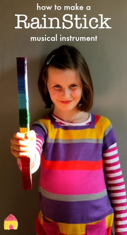 how to make a rain stick musical instrument craft for kids