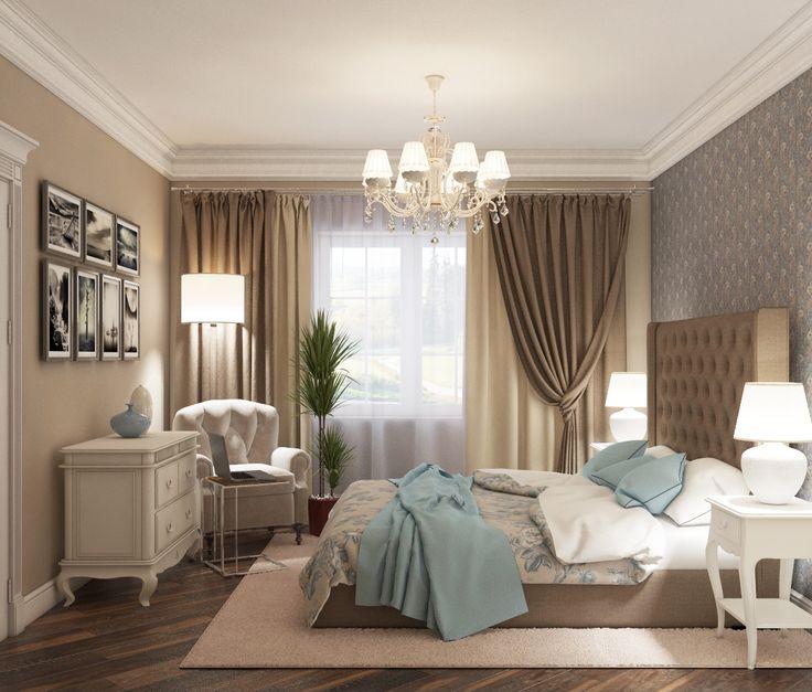 bedroom, шикарная спальня, американский стиль в дизайне интерьера