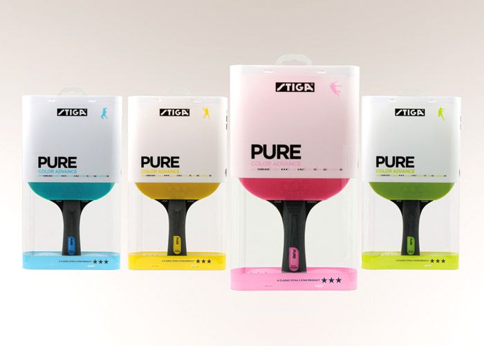 Sporty looking Table Tennis Paddles by STIGA Sports bring fresh energy to the sport.