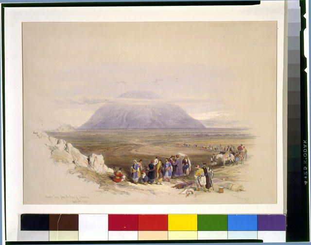 Mount Tabor from the Plain of Esdraelon April 19th 1839