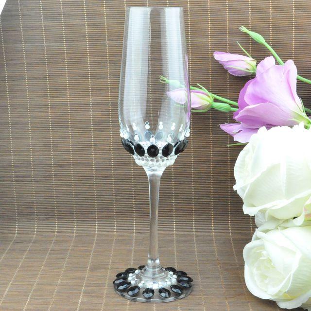 Conjuntos de 2, personalizado/Personalizado, zapatos cristalinos de La Boda de Tostado Flautas de Champán Gafas, novias Novio Regalo Dama de honor, 007