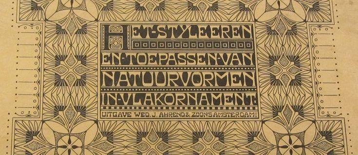 Het styleeren en toepassen van natuurvormen in vlakornament / J.H. Boot. - Amsterdam : Ahrend, [192?]. #ArtNouveau Available in library TextielMuseum