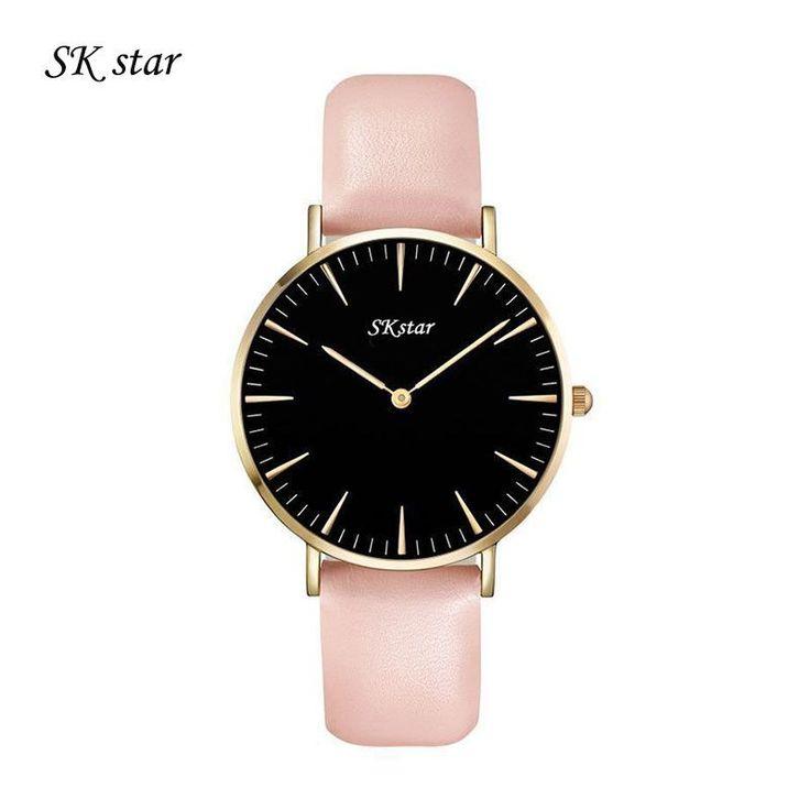 Top Brand SKStar Watches Men & Women Quartz watch High Quality Nylon Leather Rose Gold Silver Clock 4cm Relogio Masculino Femme