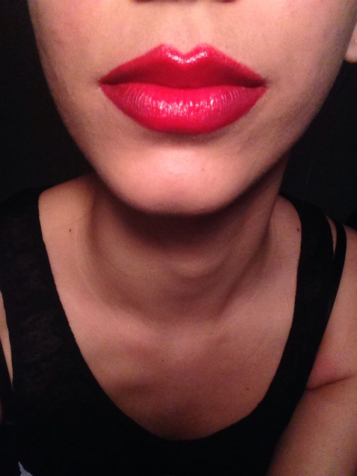 Perfekta röda läppar
