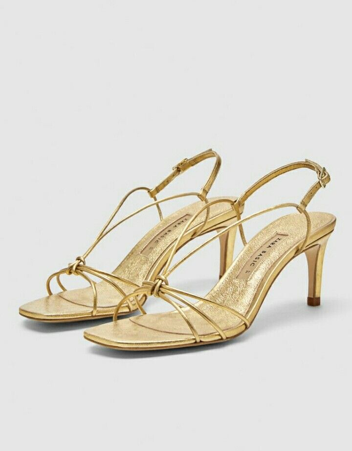 bd18867ee74 Zara golden sandals. Zara golden sandals Leather High Heels ...
