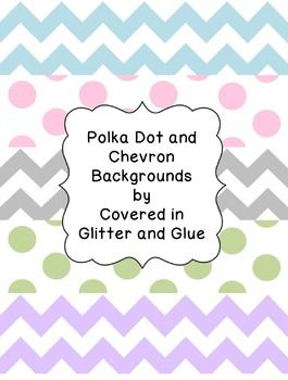 Free Chevron and polka dot backgrounds