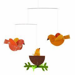 Petit Collage - Hanging Mobile - Nesting Birds