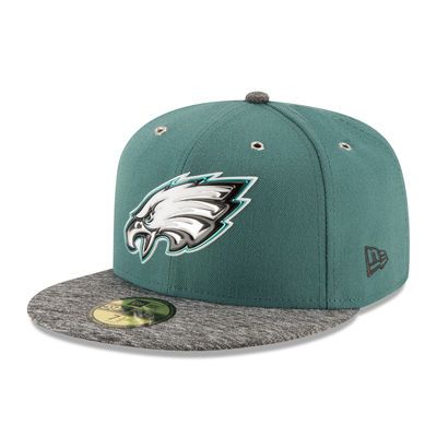 Philadelphia Eagles New Era 2016 NFL Draft On Stage 59FIFTY Fitted Hat - Midnight Green/Heathered Gray