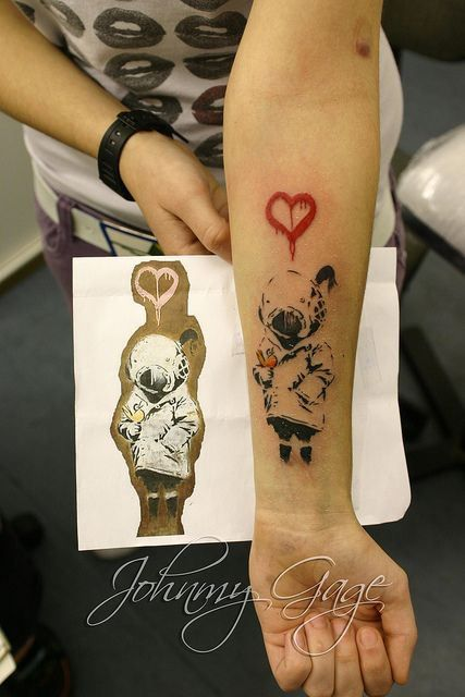 Tattoos Inspired by the Art of Banksy - Inked Magazine