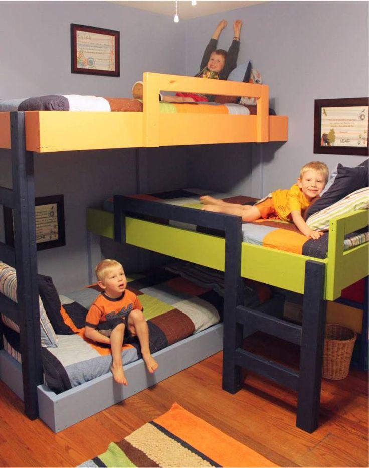 Дизайн детской комнаты для троих мальчиков