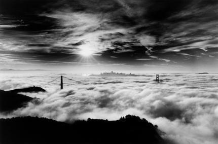 San francisco black and white photo burma