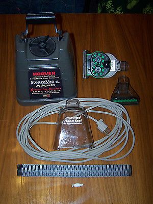 HOOVER STEAM VAC WIDEPATH 6 ROTATING BRUSHES LOT PARTS BUCKET NOZZLE CORD 7