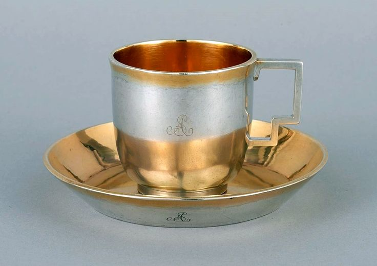 Silver and gilt cup and saucer by Szymon Stanecki in Warsaw, turn of the 18/19th century, Muzeum Warszawy